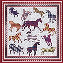 petit carre de soie motif cheval chic cadeau couleur rouge