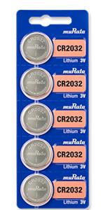 Murata lithium battery, size CR2032