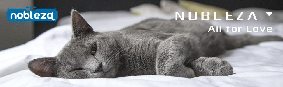 Nobleza - 8 x Arena para Gatos de sílice Camada para Gatitos de Gel de Diamante 3.8L Absorbente, Cómodo Biodegradable: Amazon.es: Productos para mascotas