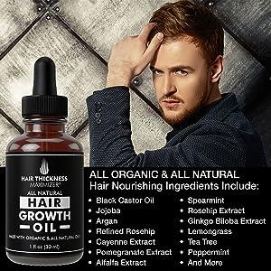 all natural hair growth oil 1oz