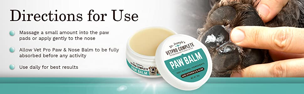 Easy to Use Paw Balm for Dogs