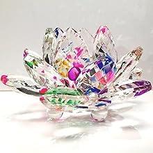 Crystal Lotus flower paperweight