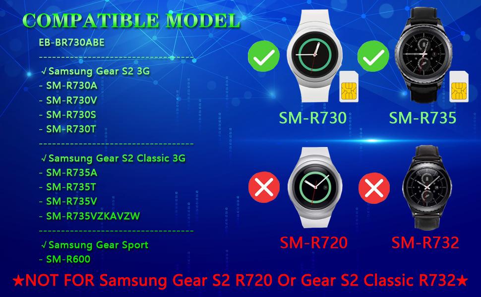 Galaxy Gear S2 Battery R730