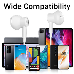 USB Type C Headphones for iPad Pro Samsung S20 Plus Ultra Note 20 Tab S6 S7 Google Pixel 5 4 3 2 XL