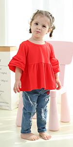 Little girls jeans clothes set