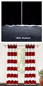 mia 100% blackout window curtain