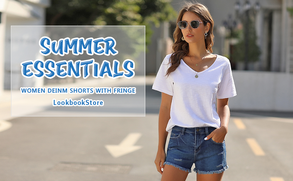 jean shorts for women
