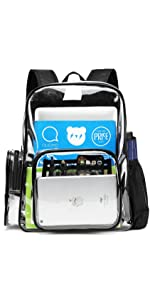 clear backpack for women