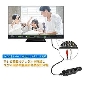 テレビで撮影ビデオを確認可能