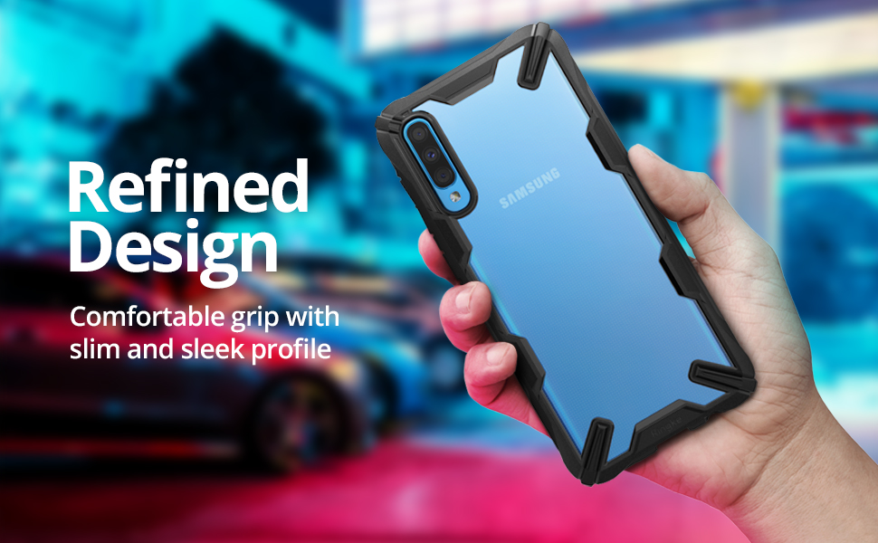 """Ringke Fusion-X Designed for Galaxy A70 Case Protection Shock Absorption Technology Cover (6.7"""")"""