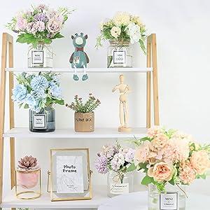 fake flowers pink flower arrangements for centerpiece silk floral foe home decoration