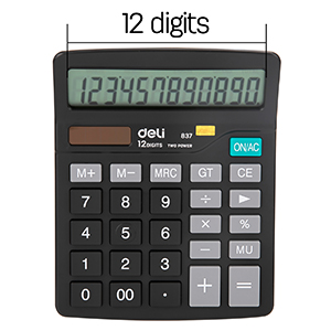 12 Digits Large LCD Display