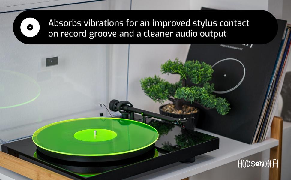 cork turntable record slipmats acrylic platter speakers cork vinyl inch midrange bass energy center