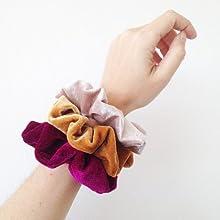 Velvet Elástico Hair Scrunchies 50 Colores Xpassion Scrunchie de ...