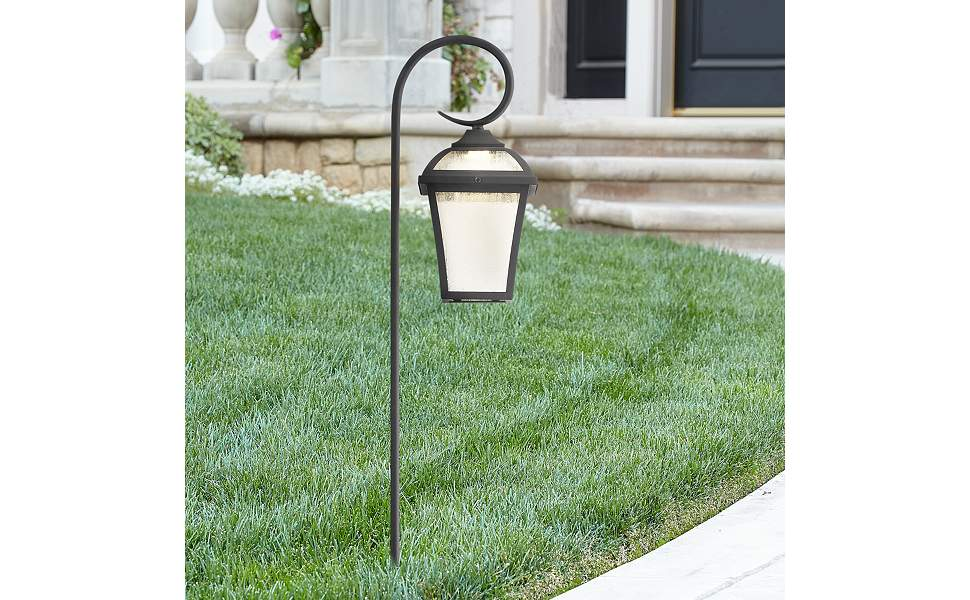 "Mosconi 27 1/2"" High Textured Black LED Landscape Path Light"