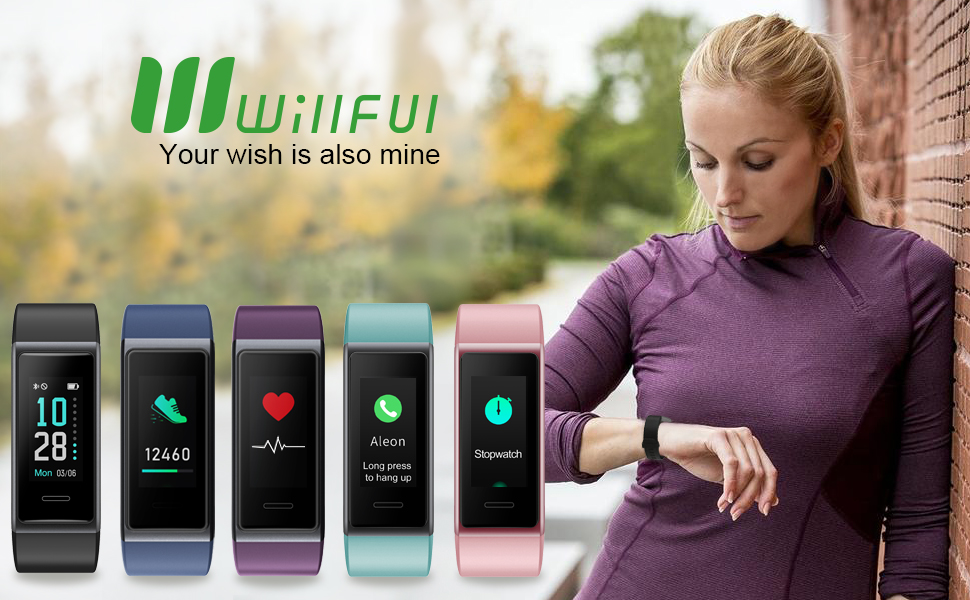 Willful Fitness Tracker 2020 Version, Heart Rate Monitor Fitness Watch IP68 Waterproof Pedometer