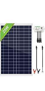 25 Watt solar panel off grid kit