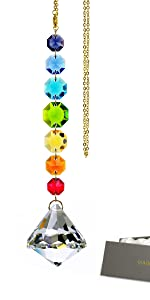 Colorful Rainbow Crystal Octogon Chakra Suncatchers