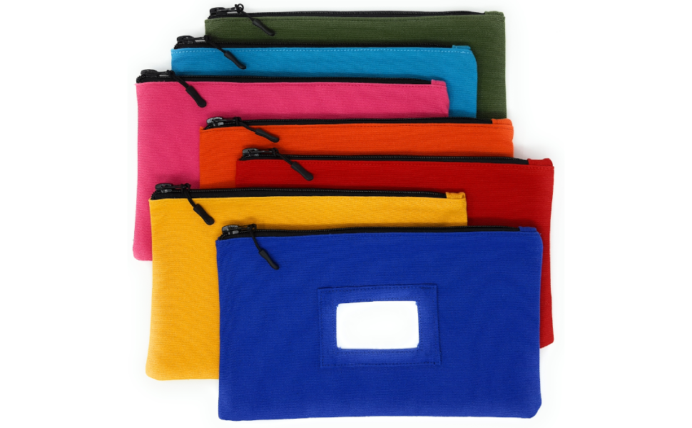 canvas zipper pouch large