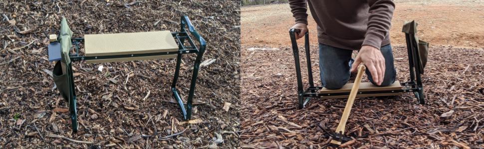 garden kneeler seat cultivator hoe free truly