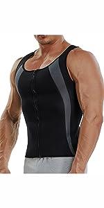 y9972Sauna Sweat Vest Mens Abs Chest Firm Control Slimming Quema Grasa Adelgazar