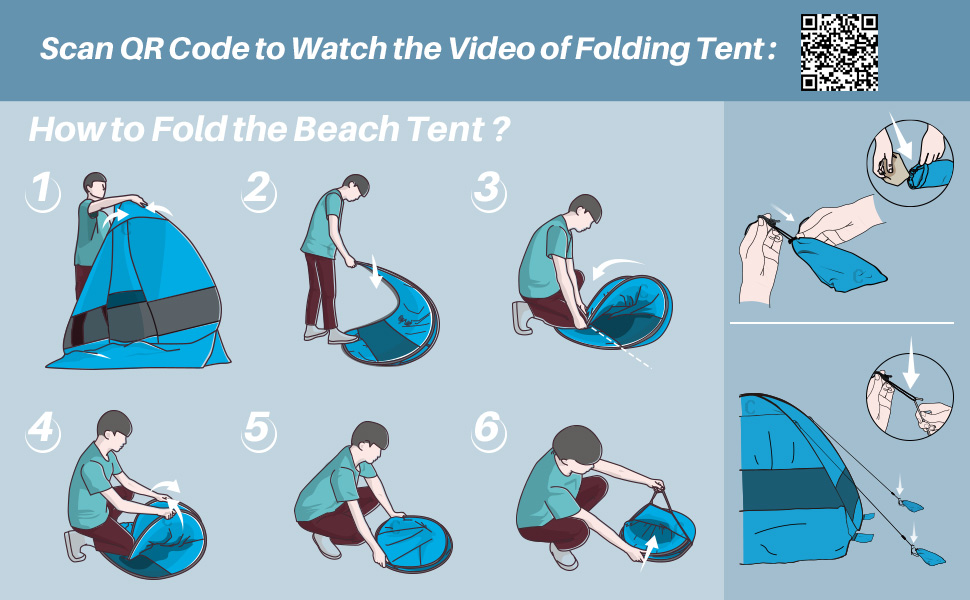 How to Fold the Pop Up Beach Tent