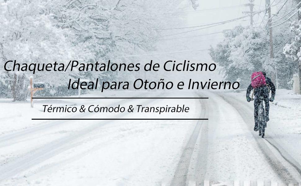chaqueta pantalones para ciclismo de invierno