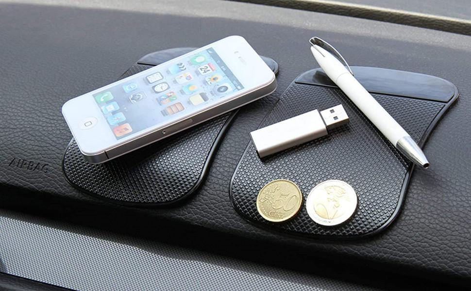 Voarge Handy Smartphone Auto Halterung Premium Antirutschmatte Mit Starker Haftung Klebematte Haftmatte Antirutschmatte Auto Armaturenbrett Tablet Klebematte Anti Rutsch Pad Auto