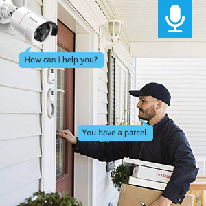 security camera with audio