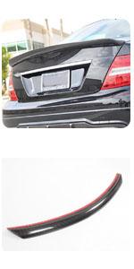 Benz W204 C Class C180 C200 C250 C300 C63 AMG Sedan 2008-2015 CF Fiber Rear Trunk Boot Lid Spoiler
