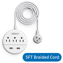 braided extension cord
