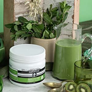 Green Superfood Powder with Freeze Dried Organic Raw, Vegan, Plant Based Fruits, Vegetables & Herbs