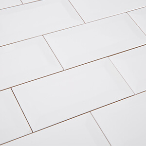 Soulscrafts 3 x 6 Inch White Ceramic Subway Tile