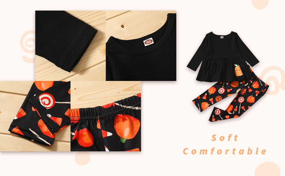 black top dress+candy print  halloween outfits