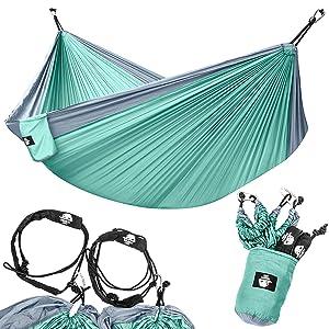 double hammock teal