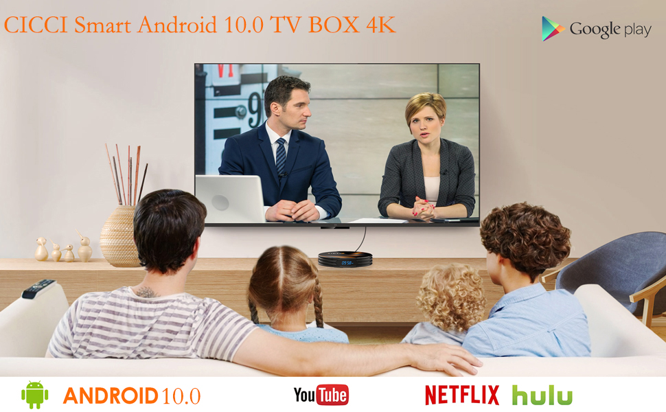H96 MAX RK3318 Smart TV Box RAM 2GB ROM 16GB Android 10.0 Media player 4K Netflix Youtube H96MAX