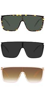 GRFISIA Classic Women Oversized Square Sunglasses for 100% UV Protection Flat Lens Fashion Shades