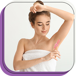 armpit waxing applicator