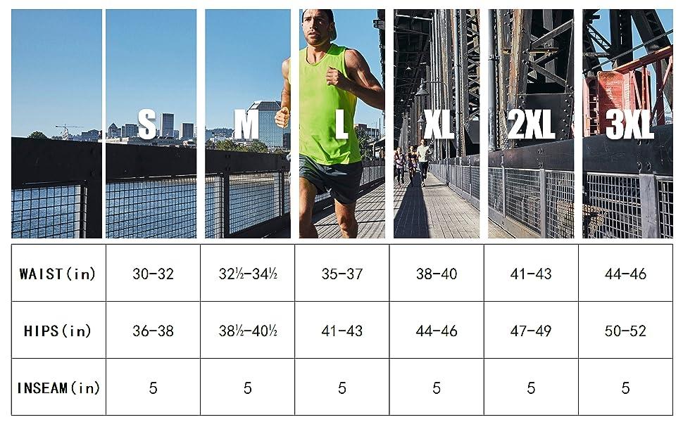 Mens running shorts 5''