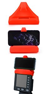 Red phone holder