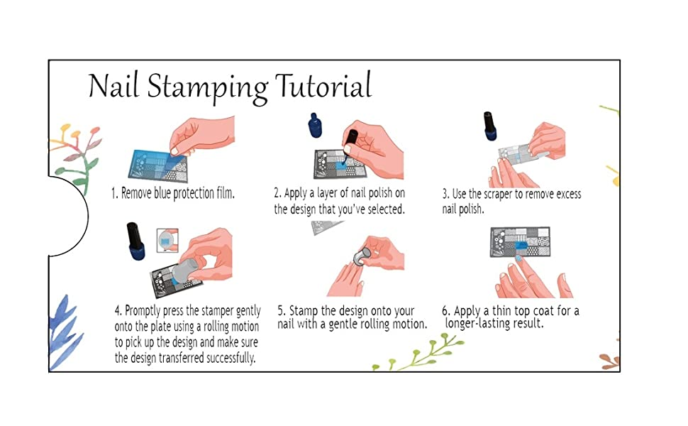 Beaute Galleria Nail Stamping Instructions