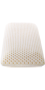 PILLOWY Latex Bed Pillow - Talalay Low Profile - Durable, Contouring, Soft