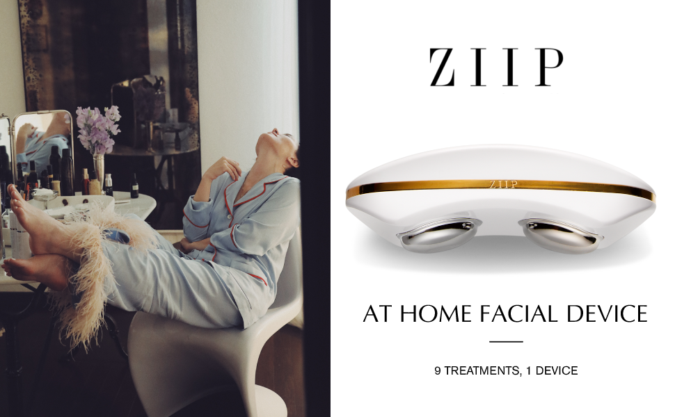 microcurrent facial machine, at home facial device, high frequency facial machine, nuface, ziip