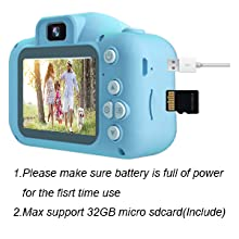 Toy Camcorder with 32GB SD Card, Children Birthday Gifts for 3 4 5 6 7 8 9 10 Year Old Boys Girls