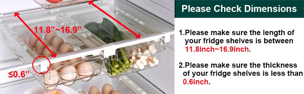 fridge drawer pull out