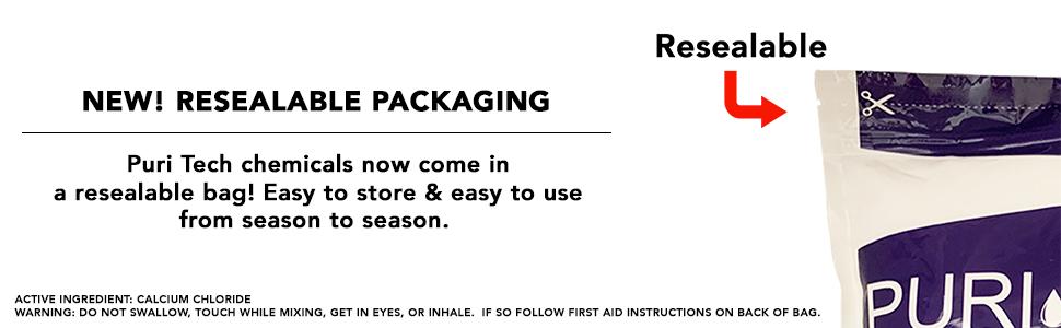 resealable chemical bag