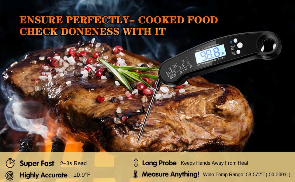 meat thermometer grill thermometer instant read thermometer