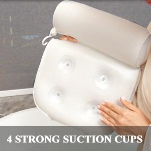 4 suction cups bathtub pillow bath spa pillows for womens bubble bath support for head shoulder