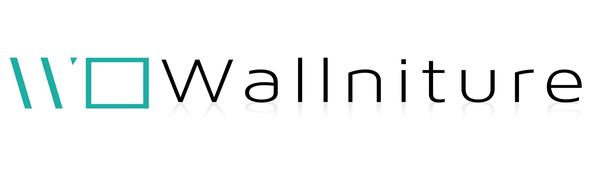 Wallniture company logo decrative wall mount yoga mat holder white home gym decor