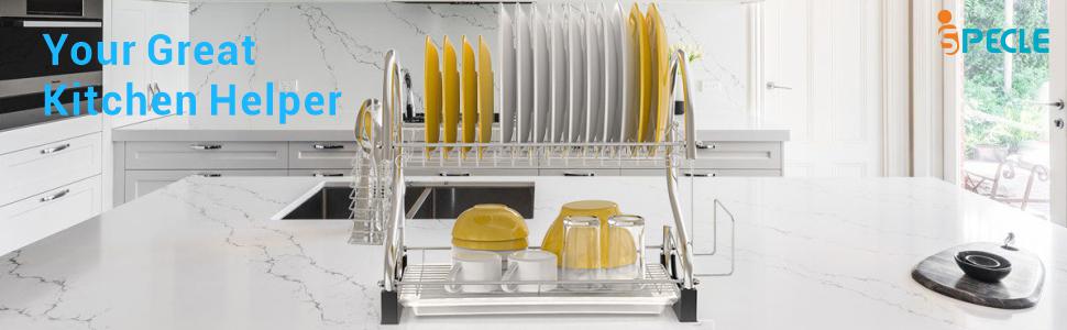 Dish Drying Rack Kitchen Countertop Helper